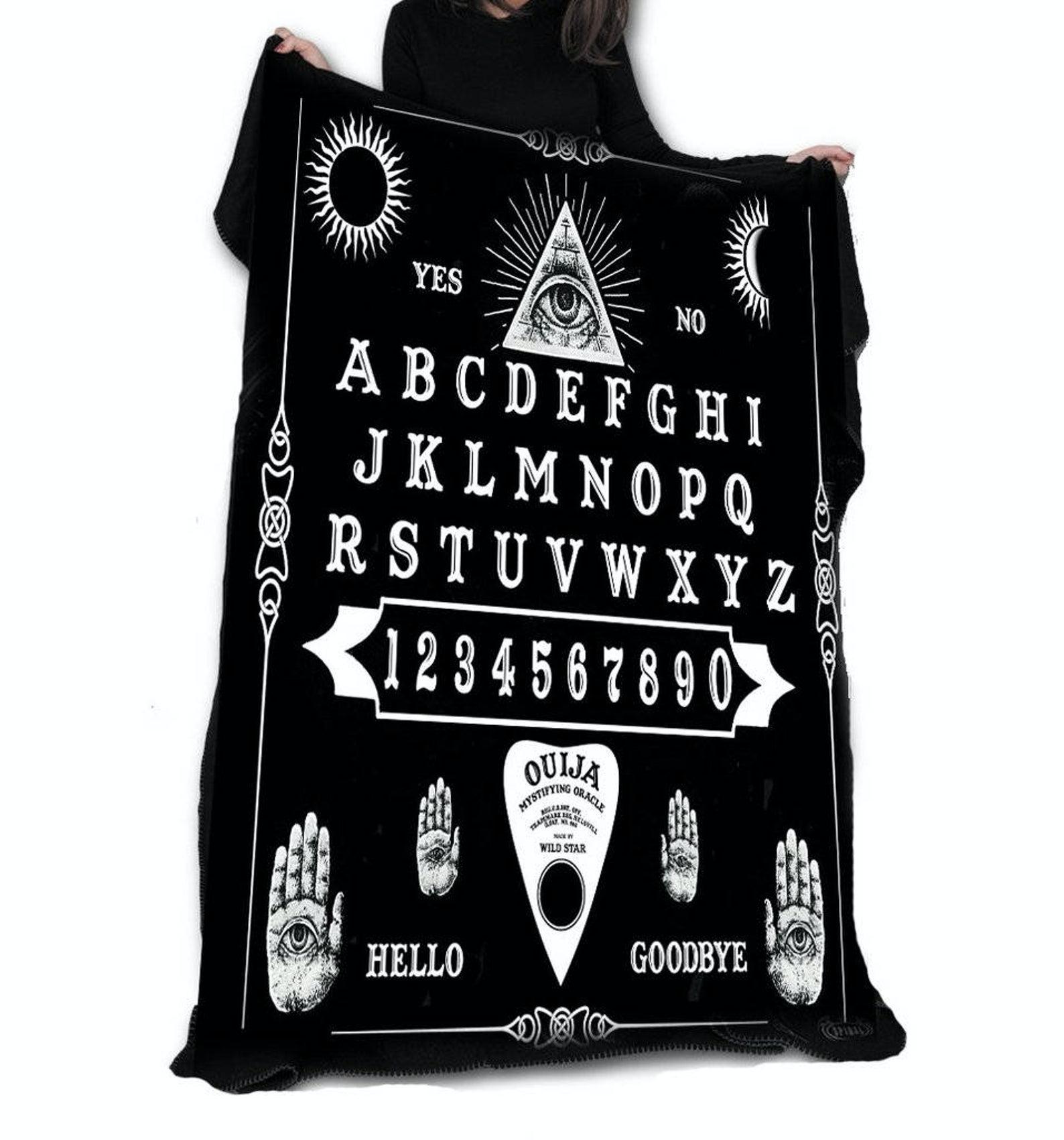 ouija board blanket - non-cheesy halloween decorations