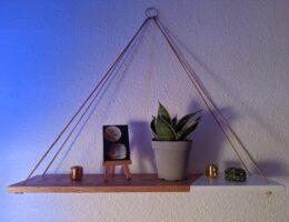 DIY hanging shelf - homey homies