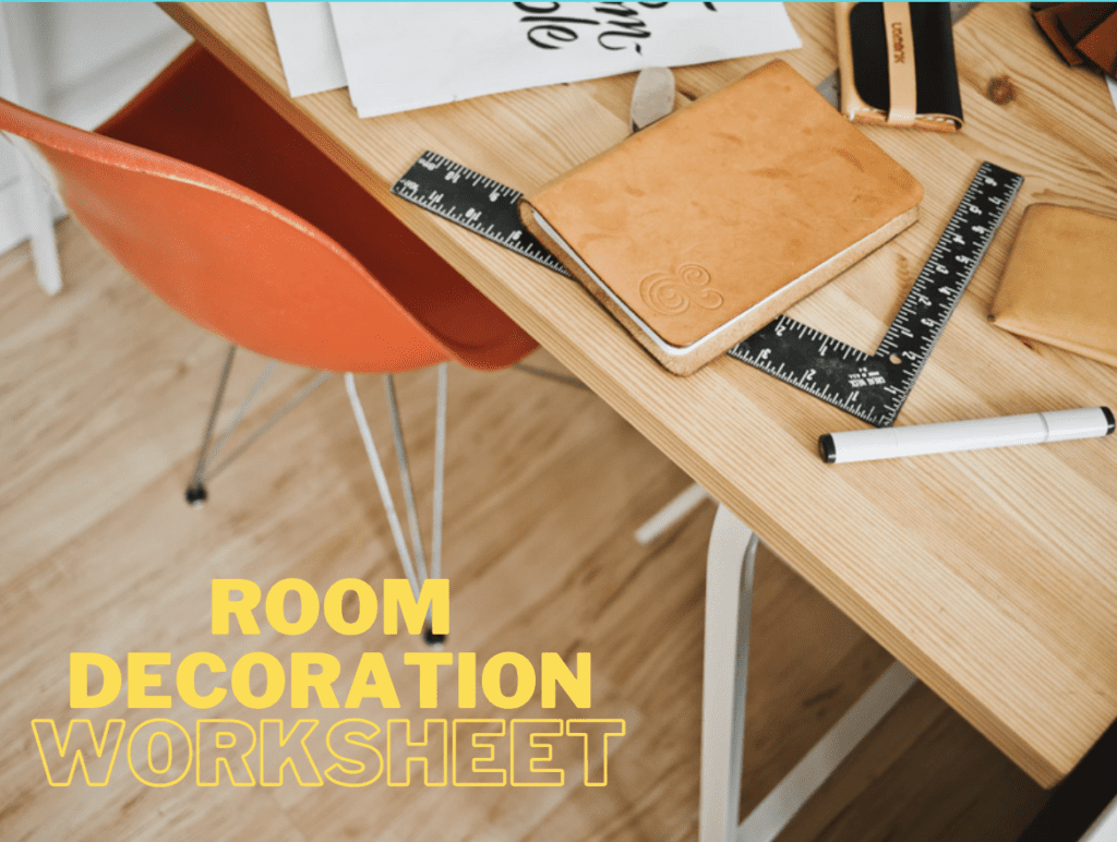 room decoration worksheet
