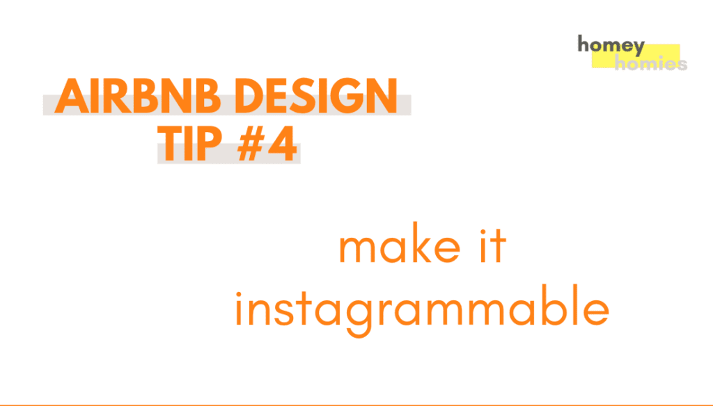 how to design your airbnb - tip 4: make it instagrammable
