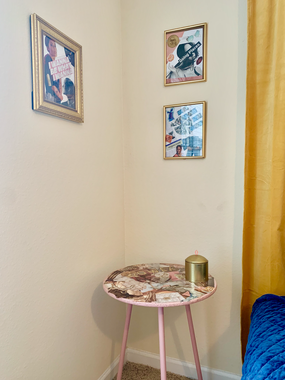 diy collage table final product - homey homies blog