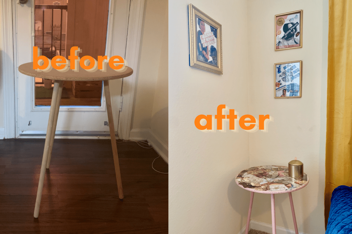diy collage side table