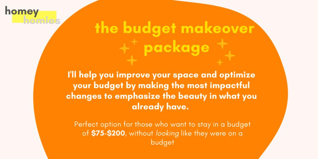 budget bedroom makeover package