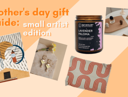 mother's day gift guide: small artist edition - homey homies blog