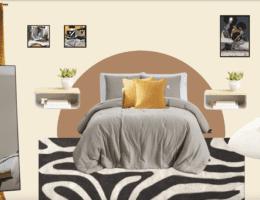 Budget bedroom makeover: under $200 - homey homies